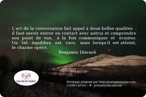 Comment garder la foi quand tout va mal : L'art de la conversation selon Benjamin Disraeli.