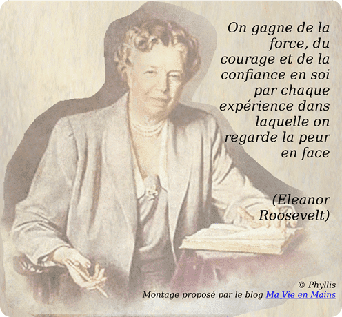 citation confiance en soi de Eleanor Roosevelt