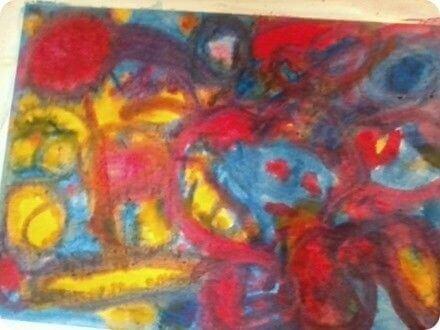 Peinture faite à l'école Montessori par mon fils, Raphaël, 6 ans : mon propre fils est divergent